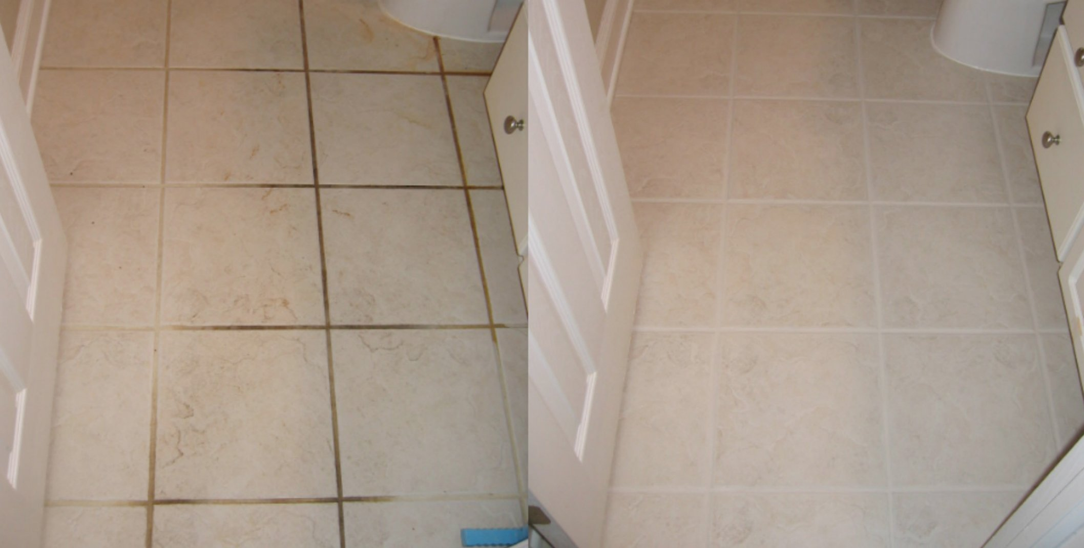 how to clean bathroom and kitchen tile floors easily