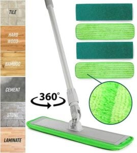 Turbo microfiber Best Mops for Vinyl Plank Floors