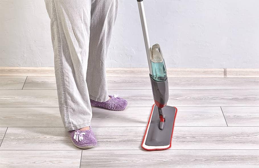 Can you wet mop vinyl plank flooring?