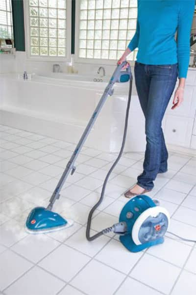 Clean Tile Grout with A Cleaning Machine